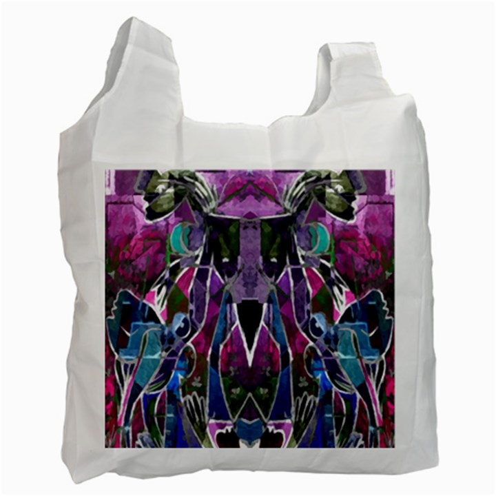 Sly Dog Modern Grunge Style Blue Pink Violet Recycle Bag (One Side)