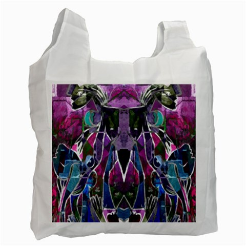 Sly Dog Modern Grunge Style Blue Pink Violet Recycle Bag (Two Side)
