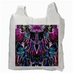 Sly Dog Modern Grunge Style Blue Pink Violet Recycle Bag (Two Side)  Back