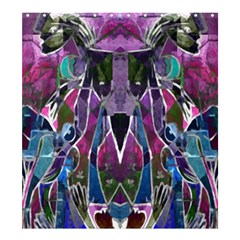 Sly Dog Modern Grunge Style Blue Pink Violet Shower Curtain 66  x 72  (Large)
