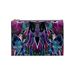 Sly Dog Modern Grunge Style Blue Pink Violet Cosmetic Bag (Medium)