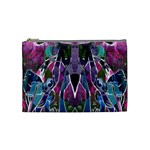 Sly Dog Modern Grunge Style Blue Pink Violet Cosmetic Bag (Medium)  Front