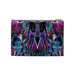Sly Dog Modern Grunge Style Blue Pink Violet Cosmetic Bag (Medium)  Back