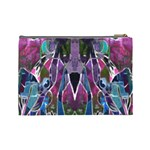 Sly Dog Modern Grunge Style Blue Pink Violet Cosmetic Bag (Large)  Back