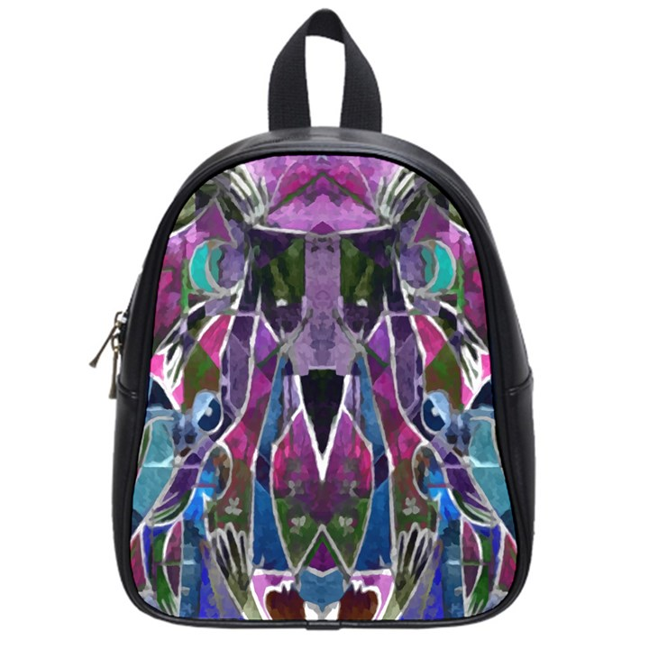 Sly Dog Modern Grunge Style Blue Pink Violet School Bags (Small)