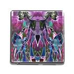 Sly Dog Modern Grunge Style Blue Pink Violet Memory Card Reader (Square) Front