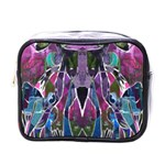 Sly Dog Modern Grunge Style Blue Pink Violet Mini Toiletries Bags Front