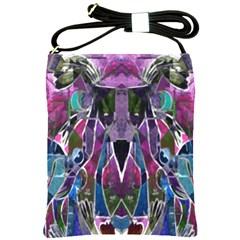 Sly Dog Modern Grunge Style Blue Pink Violet Shoulder Sling Bags