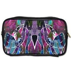 Sly Dog Modern Grunge Style Blue Pink Violet Toiletries Bags