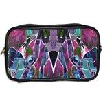 Sly Dog Modern Grunge Style Blue Pink Violet Toiletries Bags 2-Side Back