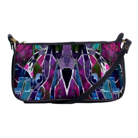 Sly Dog Modern Grunge Style Blue Pink Violet Shoulder Clutch Bags