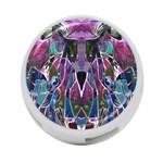 Sly Dog Modern Grunge Style Blue Pink Violet 4-Port USB Hub (Two Sides)  Front