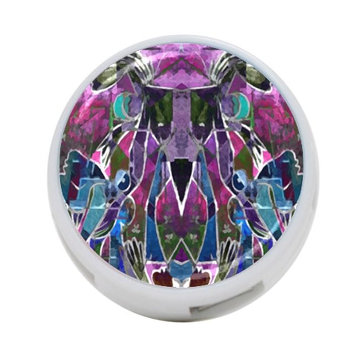 Sly Dog Modern Grunge Style Blue Pink Violet 4-Port USB Hub (Two Sides)