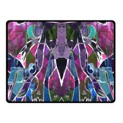 Sly Dog Modern Grunge Style Blue Pink Violet Fleece Blanket (Small)