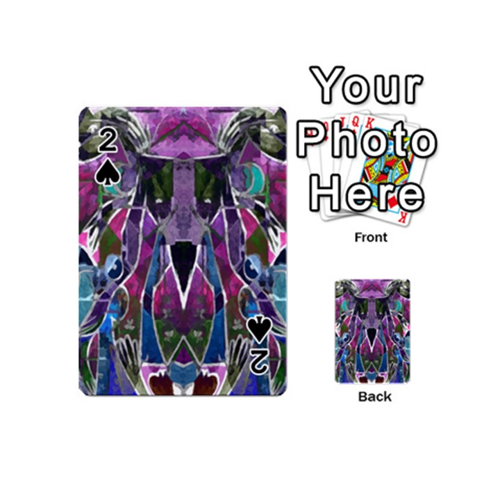 Sly Dog Modern Grunge Style Blue Pink Violet Playing Cards 54 (Mini)