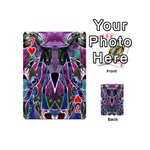 Sly Dog Modern Grunge Style Blue Pink Violet Playing Cards 54 (Mini)  Front - Heart7