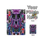 Sly Dog Modern Grunge Style Blue Pink Violet Playing Cards 54 (Mini)  Front - Heart8