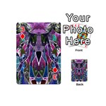 Sly Dog Modern Grunge Style Blue Pink Violet Playing Cards 54 (Mini)  Front - Diamond3