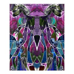 Sly Dog Modern Grunge Style Blue Pink Violet Shower Curtain 60  x 72  (Medium)