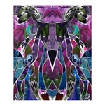 Sly Dog Modern Grunge Style Blue Pink Violet Shower Curtain 60  x 72  (Medium)  54.25 x65.71 Curtain