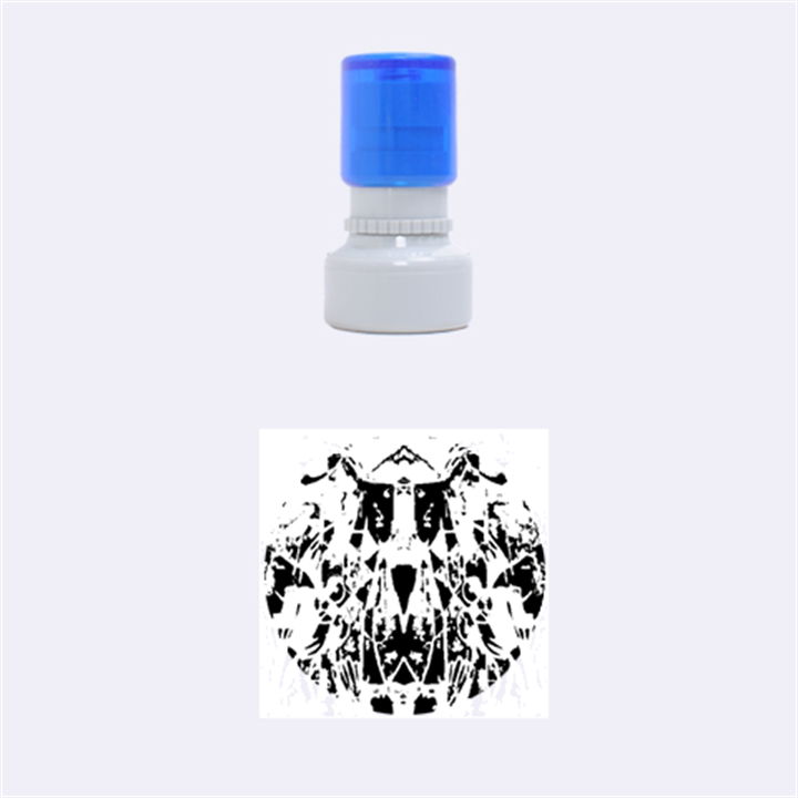 Sly Dog Modern Grunge Style Blue Pink Violet Rubber Round Stamps (Small)