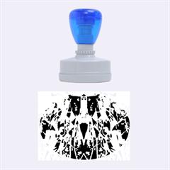 Sly Dog Modern Grunge Style Blue Pink Violet Rubber Oval Stamps
