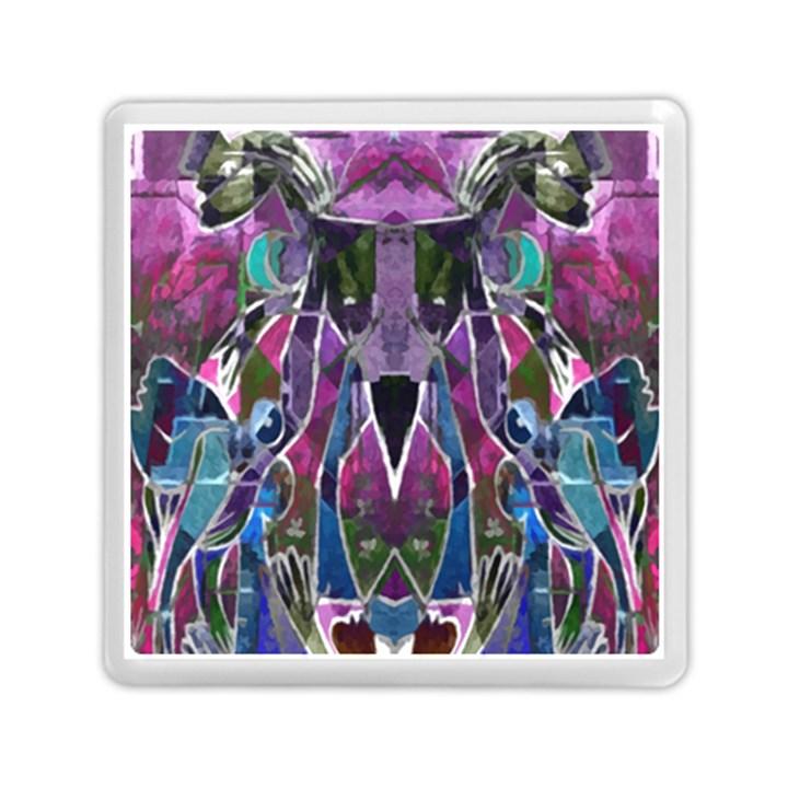 Sly Dog Modern Grunge Style Blue Pink Violet Memory Card Reader (Square)