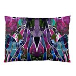 Sly Dog Modern Grunge Style Blue Pink Violet Pillow Case (Two Sides) Back