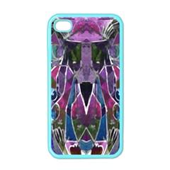 Sly Dog Modern Grunge Style Blue Pink Violet Apple Iphone 4 Case (color)