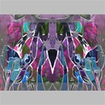 Sly Dog Modern Grunge Style Blue Pink Violet Deluxe Canvas 18  x 12   18  x 12  x 1.5  Stretched Canvas