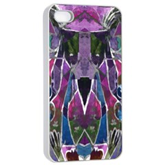 Sly Dog Modern Grunge Style Blue Pink Violet Apple iPhone 4/4s Seamless Case (White)