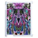Sly Dog Modern Grunge Style Blue Pink Violet Apple iPad 2 Case (White) Front
