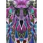 Sly Dog Modern Grunge Style Blue Pink Violet I Love You 3D Greeting Card (7x5) Inside