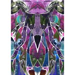 Sly Dog Modern Grunge Style Blue Pink Violet Clover 3D Greeting Card (7x5) Inside