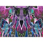 Sly Dog Modern Grunge Style Blue Pink Violet Clover 3D Greeting Card (7x5) Back