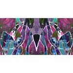 Sly Dog Modern Grunge Style Blue Pink Violet #1 DAD 3D Greeting Card (8x4) Back