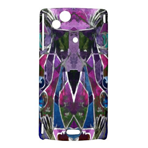 Sly Dog Modern Grunge Style Blue Pink Violet Sony Xperia Arc