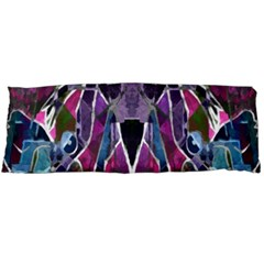 Sly Dog Modern Grunge Style Blue Pink Violet Body Pillow Case (Dakimakura)