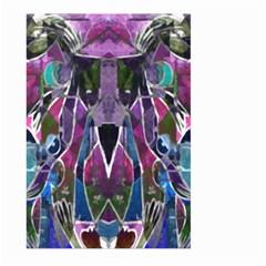 Sly Dog Modern Grunge Style Blue Pink Violet Large Garden Flag (two Sides)