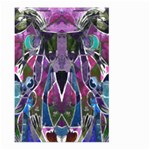 Sly Dog Modern Grunge Style Blue Pink Violet Large Garden Flag (Two Sides) Back