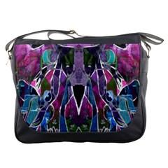 Sly Dog Modern Grunge Style Blue Pink Violet Messenger Bags