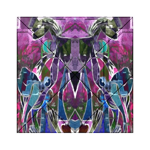 Sly Dog Modern Grunge Style Blue Pink Violet Acrylic Tangram Puzzle (6  x 6 )