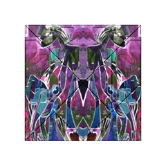 Sly Dog Modern Grunge Style Blue Pink Violet Acrylic Tangram Puzzle (4  x 4 )