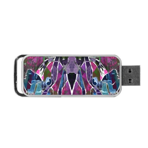 Sly Dog Modern Grunge Style Blue Pink Violet Portable USB Flash (One Side)