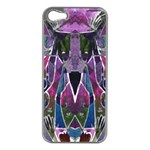 Sly Dog Modern Grunge Style Blue Pink Violet Apple iPhone 5 Case (Silver) Front