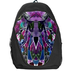 Sly Dog Modern Grunge Style Blue Pink Violet Backpack Bag