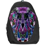 Sly Dog Modern Grunge Style Blue Pink Violet Backpack Bag Front