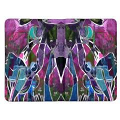 Sly Dog Modern Grunge Style Blue Pink Violet Kindle Fire (1st Gen) Flip Case
