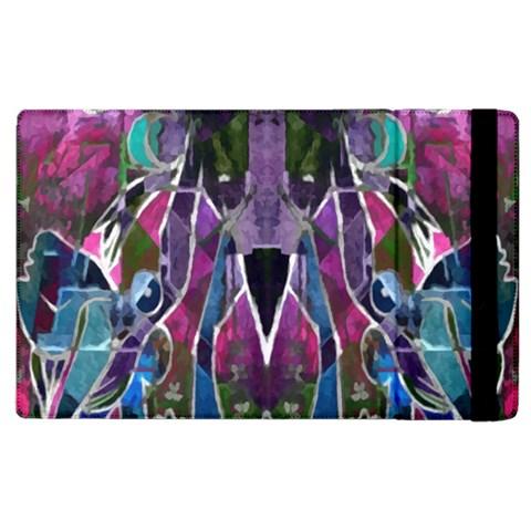 Sly Dog Modern Grunge Style Blue Pink Violet Apple iPad 2 Flip Case