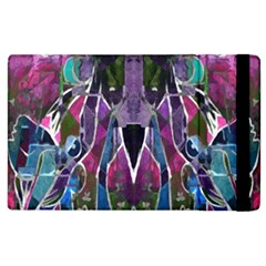 Sly Dog Modern Grunge Style Blue Pink Violet Apple iPad 2 Flip Case